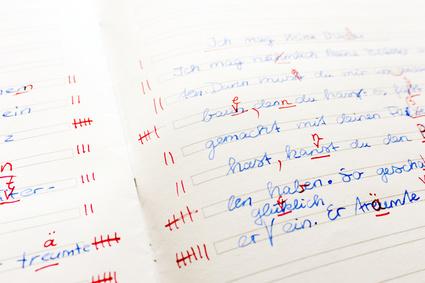 Korrektur eines Deutschaufsatzes