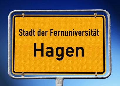 Ortseingangsschild Hagen, NRW