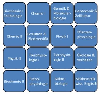 Lehrplan Fernstudium Biologie