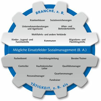 Einsatzfelder für Sozialmanager und Sozialmanagerinnen