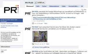 PR PLUS Facebook