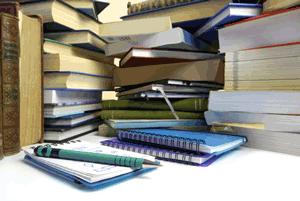 Bücher eines Doktoranden