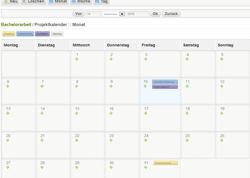 Der Kalender für Projekttermine