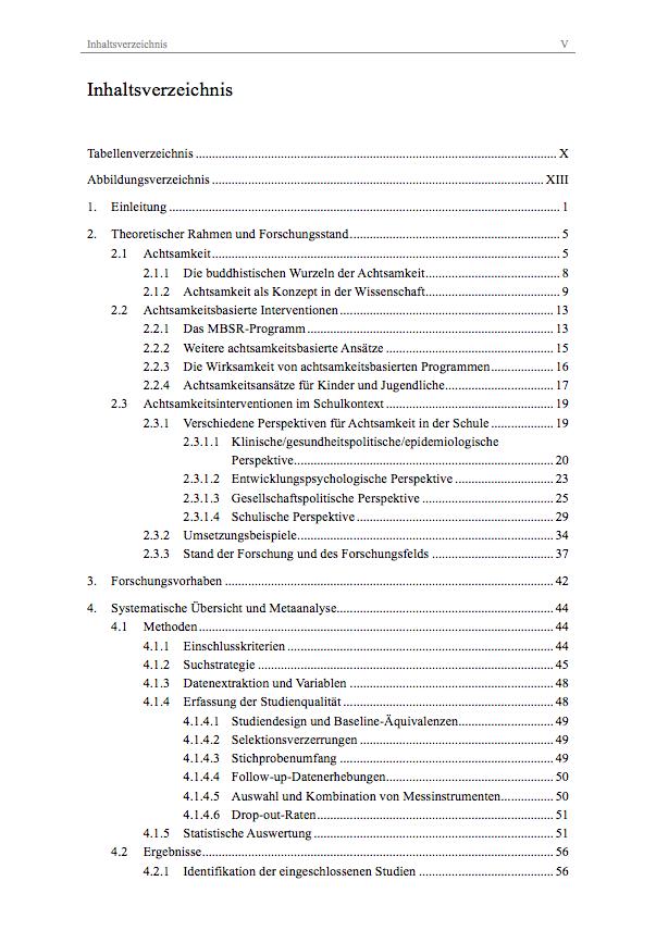 Bachelorarbeit Inhaltsverzeichnis Erstellen