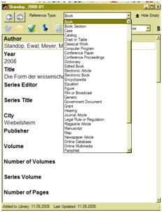 Literatur und Quellen mit Endnote verwalten